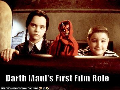 Darth Maul's First Film Role