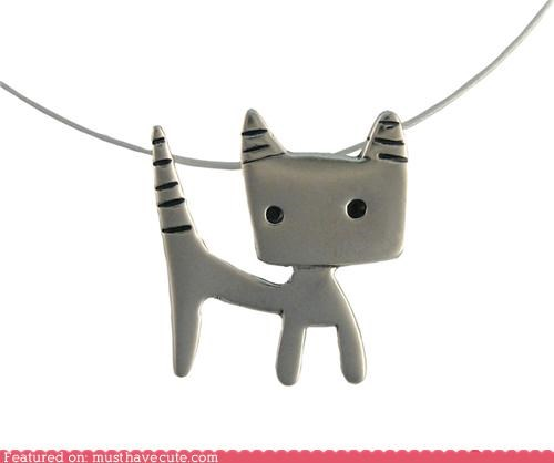 accessories animals aspca charity help Jewelry kitty necklace pendant silver