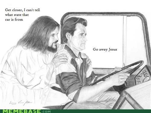 driving,LOL Jesus,loljesus,tailgate