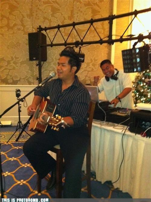acoustic guitar dj evil Music Party photobomb - 4254545920