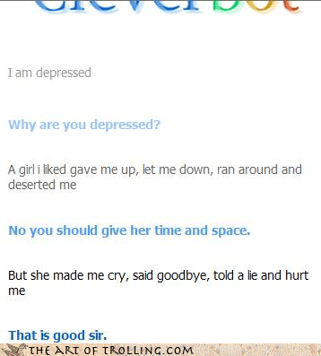 depressed Cleverbot