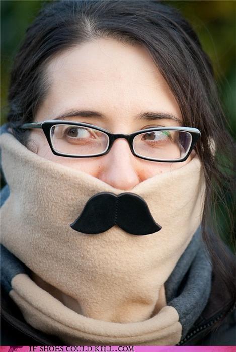 cool accessories mustache neck warmer scarf - 4255884544