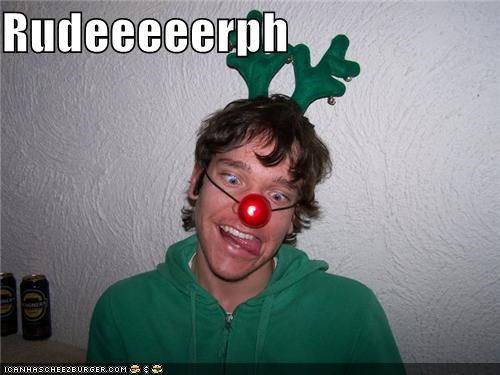 christmas critters derp nose reindeer rudolph - 4256494080