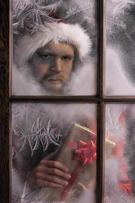 creepy Hall of Fame present santa scary window wtf - 4256529408