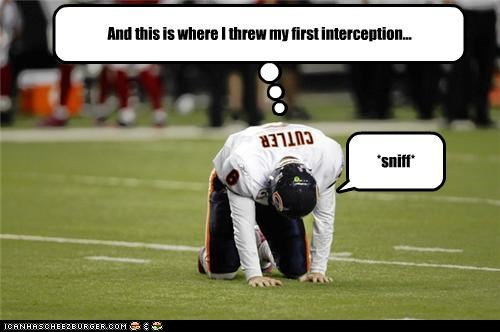 *sniff* And this is where I threw my first interception...