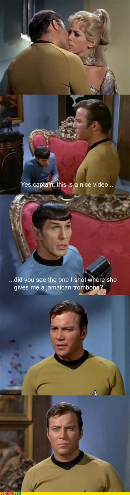 Captain Kirk learn something new every day oral sex sexual acts Spock Star Trek Video - 4256871424