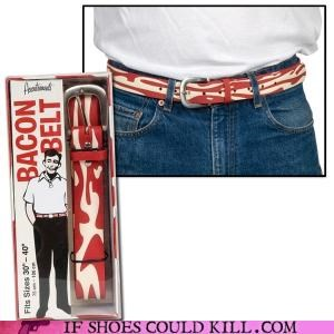 bacon belt cool accessories yummy - 4257345792