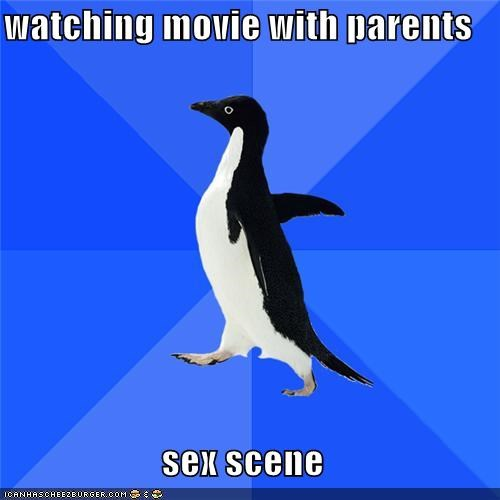 watching movie with parents sex scene