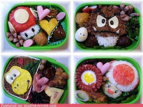 bento epicute mario meal nintendo rice super mario video game