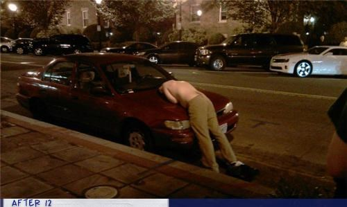 bad idea,car,passed out,wtf