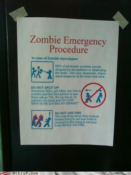 awesome,emergency,FTW,notes,signs,zombie