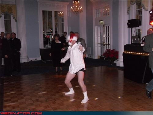 confusing drunk dancing santa drunk guy drunk guy at wedding drunk santa eww fashion is my passion funny wedding photos miscellaneous-oops pantsless drunk guy pantsless guy surprise technical difficulties wtf wtf is this