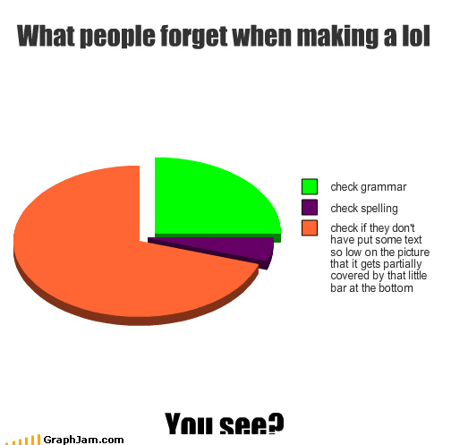 cheezburger,grammar,graphjam,learning,lols,Pie Chart,spelling