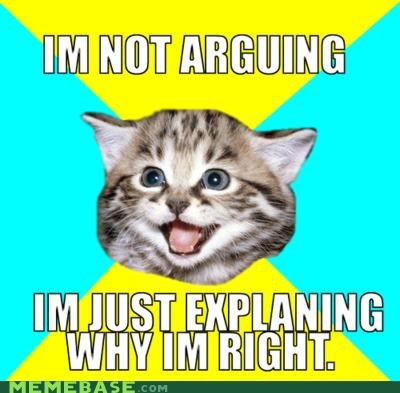 argument is invalid,arguments,Happy Kitten,right,wrong