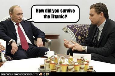 actors celeb hollywood leonardo dicaprio movie reference russia titanic Vladimir Putin vladurday - 4260964608