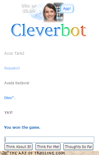 Harry Potter avada kedavra Cleverbot - 4261942272