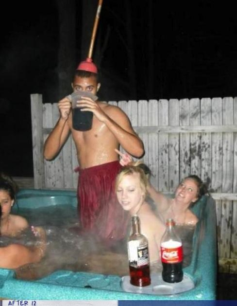 drink,hot tub,plunger,weird,wtf