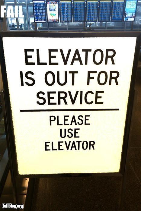 broken classic elevators failboat g rated instruction sign - 4262456064