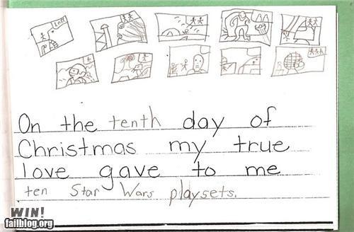 christmas cute kids notes star wars - 4262529280