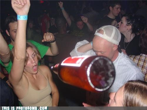 beer bottle Impending Doom Party Perfect Timing photobomb - 4262530048