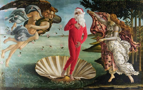 classic art with Santa Claus