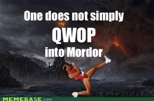 Lord of the Rings,Memes,mordor,QWOP