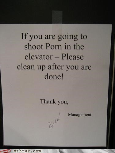 elevator,management,note,wtf