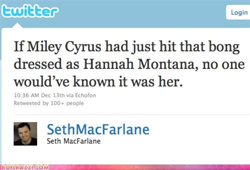 funny miley cyrus Seth MacFarlane twitter - 4263122432