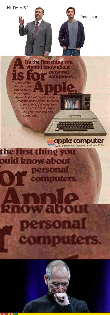 apple,computer,history,mac,PC,steve jobs,the internets,wake up sheeple,we are all the same