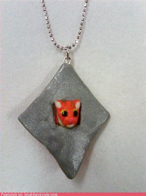 ceiling cat,chain,cheezburger,Jewelry,necklace,pendant