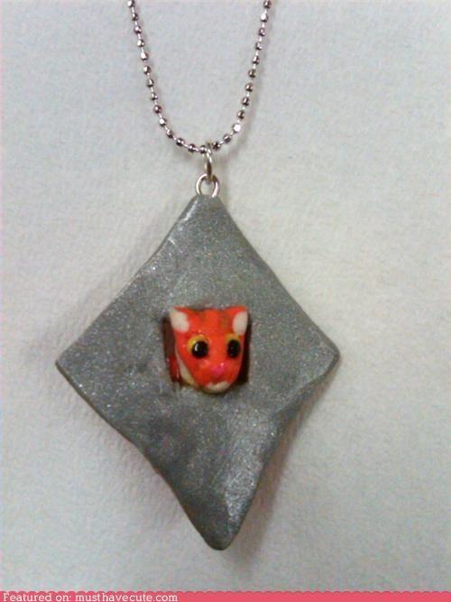 chain cheezburger Jewelry necklace pendant - 4263186432