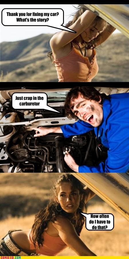 babes cars From the Movies jk mechanics megan fox women drivers - 4263229440
