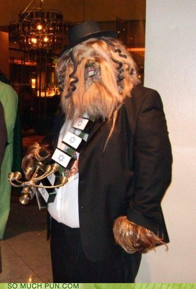 canon,chewbacca,confused,costume,Han Solo,hasidic,jew,judaism,star wars,the force