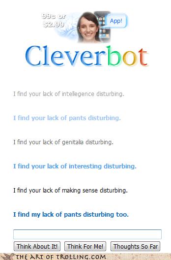Cleverbot lack making sense nudity pants star wars - 4263382528