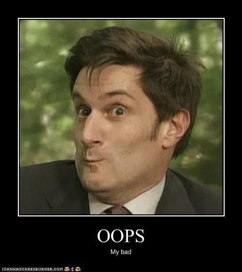 Celebriderp,Michael Showalter,my bad,oops,that face