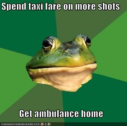 ambulance,bad idea,foul bachelor frog,FRIDAY,shots
