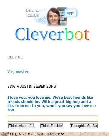 barney Cleverbot justin bieber - 4264548096