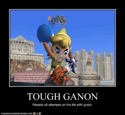 TOUGH GANON Resists all attempts on his life with gusto.