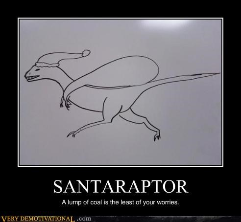 coal,dinosaur,sad but true,santa,santaraptor