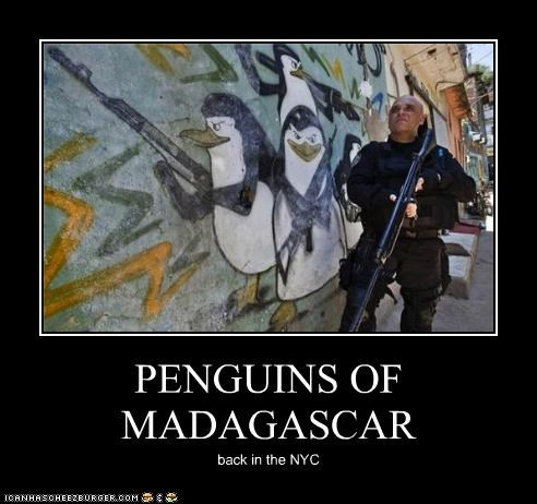 PENGUINS OF MADAGASCAR back in the NYC