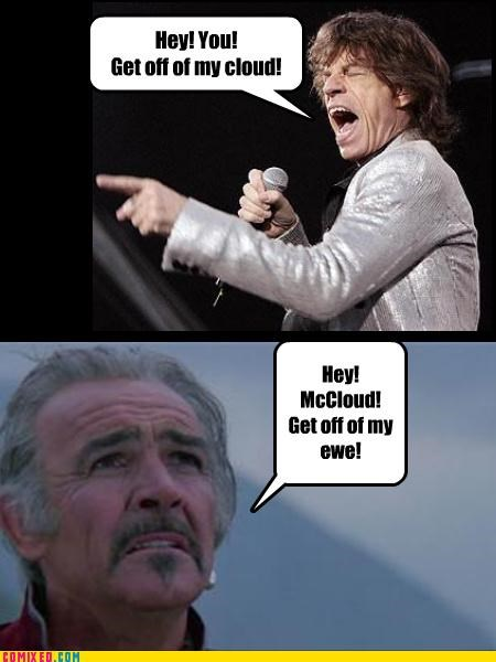 highlander mick jagger rolling stones sean connery so good spoonerism the internets - 4266131200