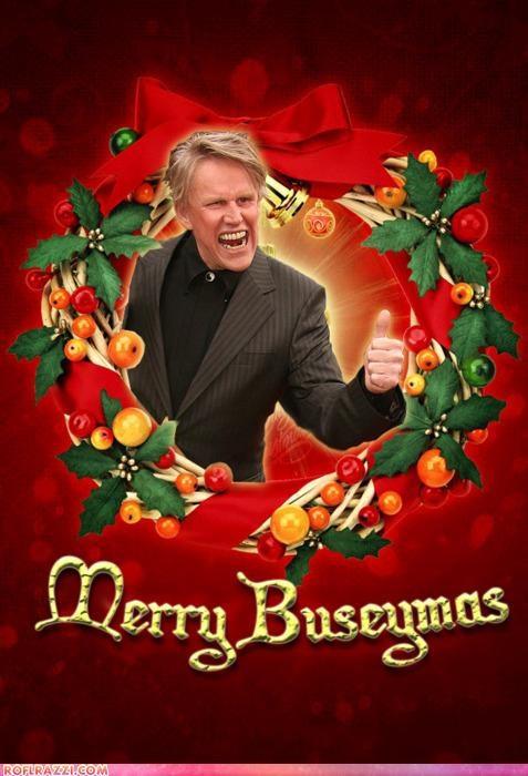christmas funny gary busey holiday shoop - 4266141184