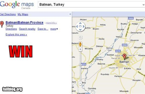 batman,google maps,nerdgasm
