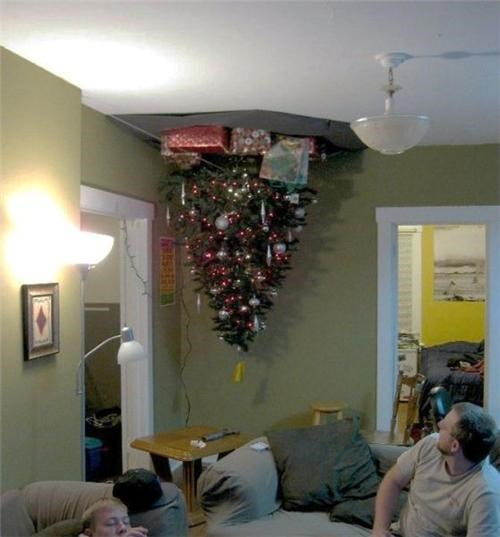 awesome,FTW,presents,tree,upside down