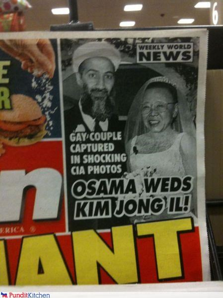 fake,funny,Kim Jong-Il,news,Osama Bin Laden,shoop