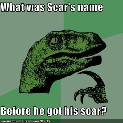 lion king,name,philosoraptor,scar