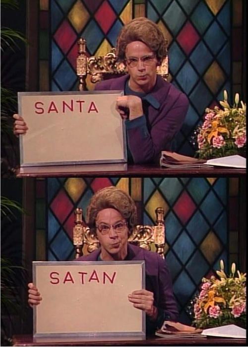 funny,santa,satan,SNL