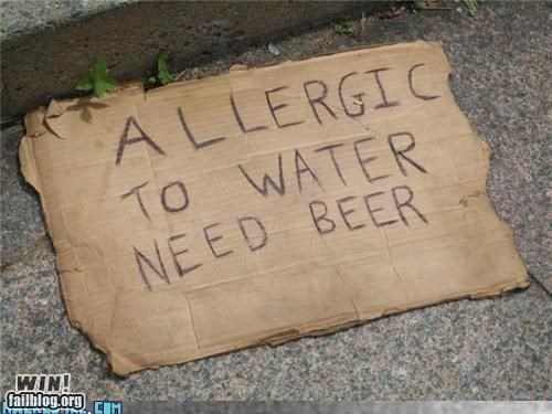 beer homeless signs - 4267298048