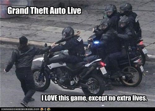 Grand Theft Auto Live I LOVE this game, except no extra lives.