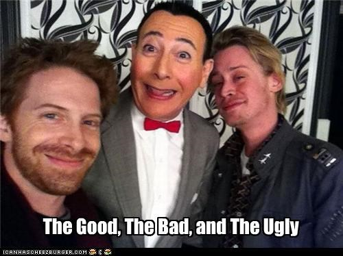 actor,celeb,funny,lolz,Macaulay Culkinacauly,Pee-Wee Herman,seth green